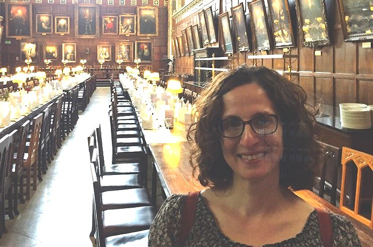 "Ms. Perna in the ""Great Hall"" of Hogwarts, from the Harry Potter film series"