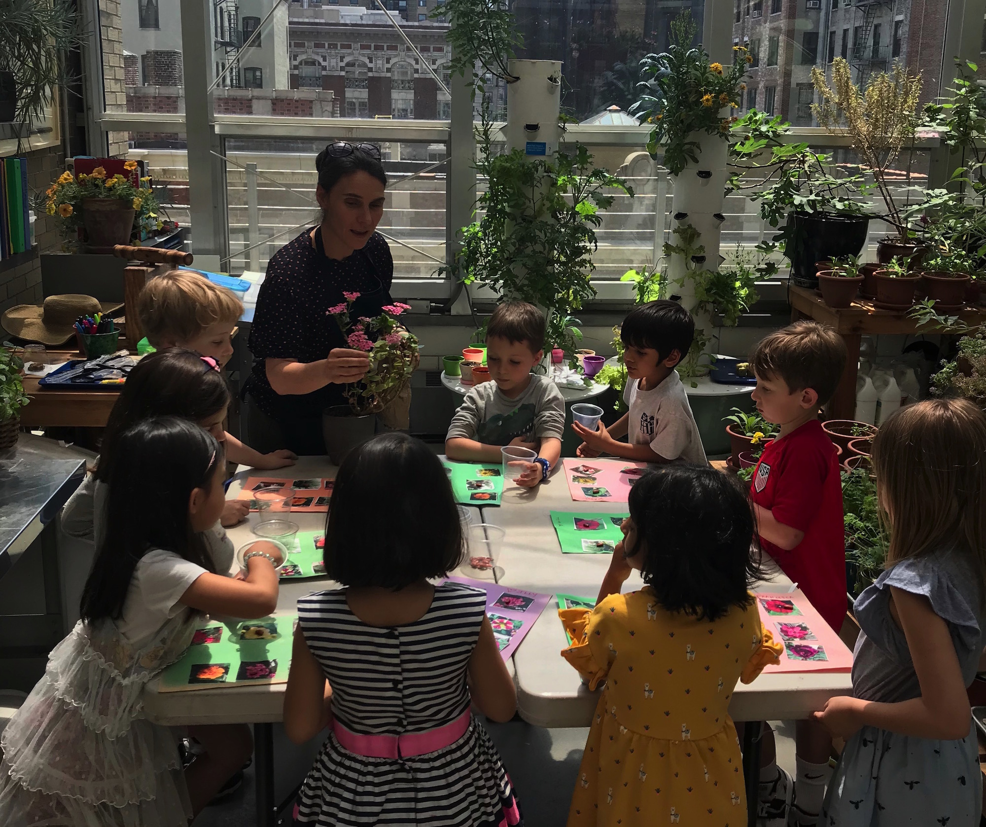 "Kindergarten Students Learn ""How To"" Help the Greenhouse Thrive"