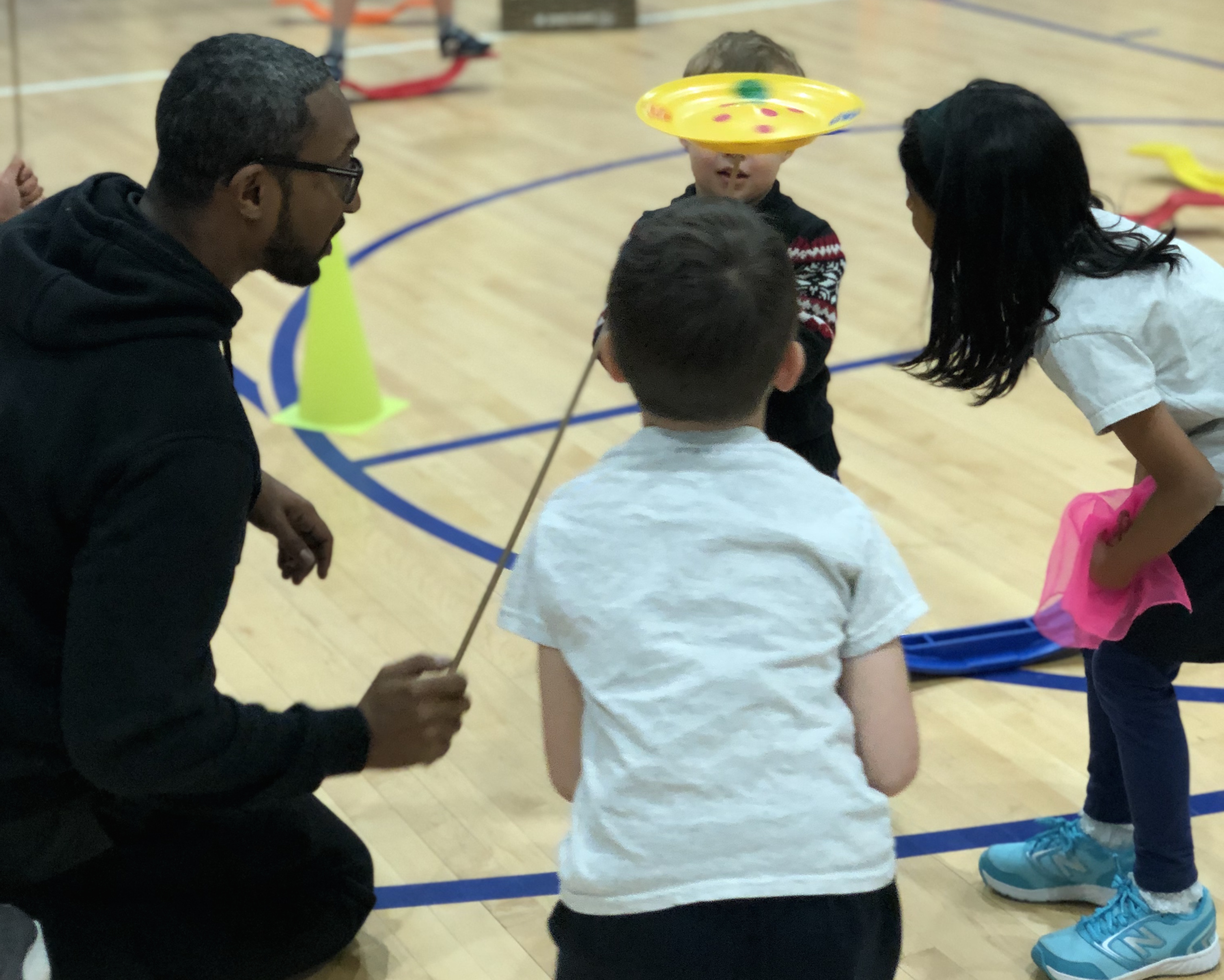 Beginners Students Join P.E. Circus